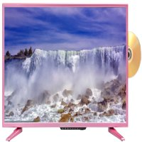 """Sceptre 32"""" Class HD (720P) Pink LED TV (E328PD-SR) with Built-in DVD Player"""