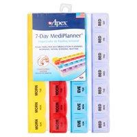 (2 pack) Apex 7-Day MediPlanner Pill Organizer