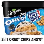 Breyers 2in1 Oreo Chips Ahoy! Frozen Dairy Dessert, 1.5 qt