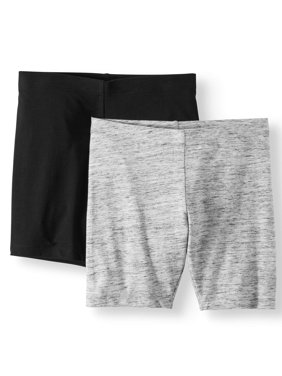 Solid Bike Shorts, 2-Pack (Little Girls & Big Girls)