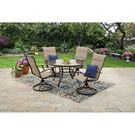 Mainstays Highland Knolls Padded Sling 5 Piece Patio Dining Set