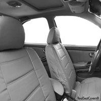 Premium 4pc Front 2 Bucket Universal Fit Seat Cover Set 100% Genuine PU Leather Premium Grade
