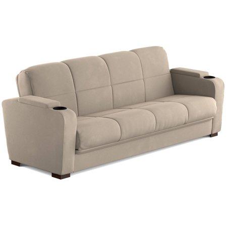 Astonishing Mainstays Tyler Futon With Storage Sofa Sleeper Bed Multiple Colors Evergreenethics Interior Chair Design Evergreenethicsorg