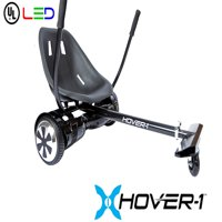 "Hover-1 Kart and Ultra Electric Hoverboard w/ 6.5"" Wheels and LED Lights Combo - Black"