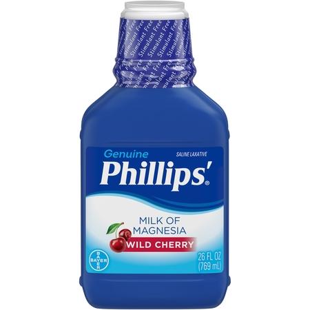 - Phillips' Milk Of Magnesia Liquid Laxative, Wild Cherry, 26 Fl Oz
