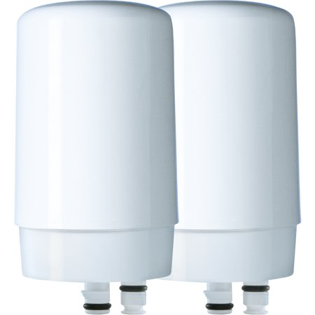 Brita Tap Water Filter, Water Filtration System Replacement Filters For Faucets, Reduces Lead, BPA Free - White, 2