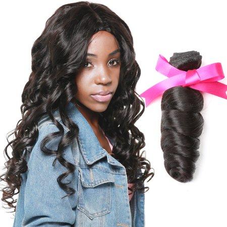 Unique Bargains Remy Virgin Human Hair Loose Wave Ustar Brand 10