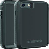Blackweb Rugged Phone Case with Rotating Holster For iPhone 6/iPhone 6s/iPhone 7/iPhone 8 - Black