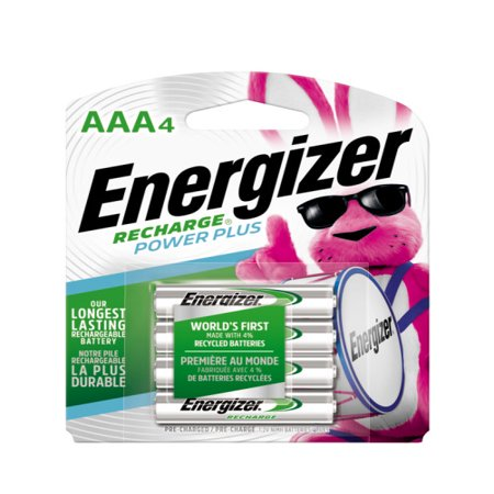 Energizer e2 Rechargeable 850mAh AAA Batteries, 4 / Pack (Nickel Rechargeable Battery)