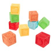 123 Soft Rubber Blocks-BPA-Free Colorful, Squeezable Numbers Building Block Set-Classic Educational Learning Toy for Babies and Toddlers by Hey! Play!