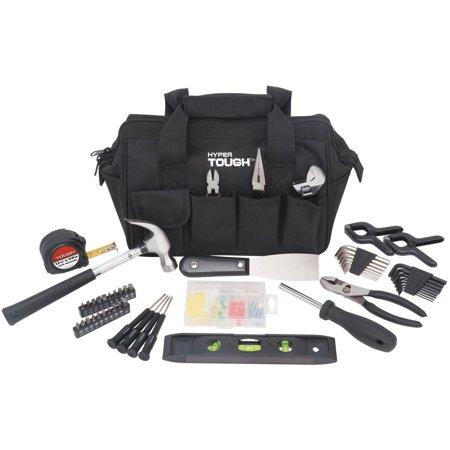 Hyper Tough 53-Piece Home Repair Tool Set, Black ()