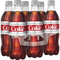 (4 Pack) Diet Coke Sugar-Free Soda, 16.9 Fl Oz, 6 Count