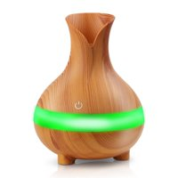 300ml Ultrasonic Air Humidifier,Cool Mist Humidifier Aroma Essential Oil Diffuser With 7 Color Changing Led Light for Office Home Study