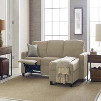 Serta Palisades Reclining Sectional with Right Storage Chaise - Oatmeal