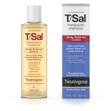Neutrogena T/Sal Therapeutic Shampoo with Salicylic Acid, 4.5 fl. - Neutrogena Coal Tar Shampoo