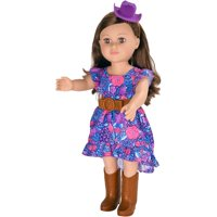 """My Life As 18"""" Poseable Cowgirl Doll, Brunette Hair with a Soft Torso"""
