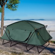Gymax 2 Person Folding Hiking Outdoor Elevated Camping Tent Cot Waterproof w/ Carry