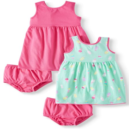 Printed and Solid Knit Dresses, 2-pack (Baby Girls) ()