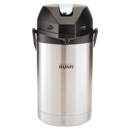1.9l Stainless Steel Airpot (BUNN 2.5 Liter Lever Action Airpot, Stainless Steel)
