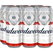 Budweiser Beer, 6 pack, 16 fl oz