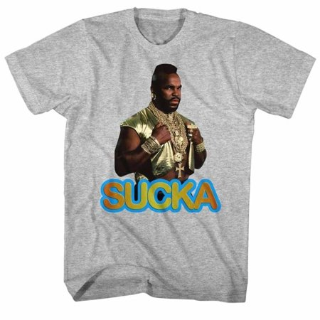 Mr. T Icons Sucka Adult Short Sleeve T Shirt (Tall And Short Halloween Costumes)