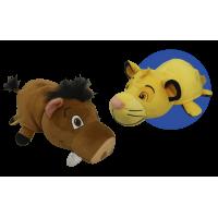 "14"" Disney Lion King Pumba to Simba FlipaZoo 2 in 1 Plush"