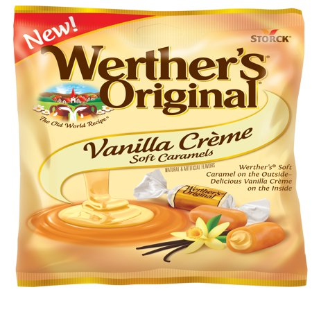 Storck Werther's Original Vanilla Crème Soft Caramels, 4.51 Oz.
