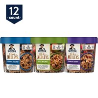 Quaker Real Medleys Instant Oatmeal, Variety Pack, 12 Cups