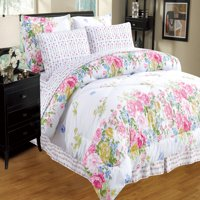 Ultra Soft 8 PC Reversible Bed in a Bag Comforter Set (Queen, Oret)