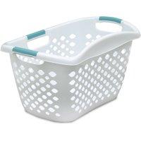 Home Logic HIP GRIP Laundry Basket, Large 1.8 Bu Hip Hugging Basket, Multiple Colors