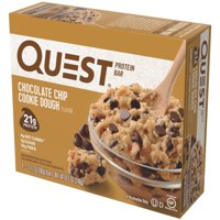 Quest Protein Bar, Chocolate Chip Cookie Dough, 21g Protein, 4 Ct