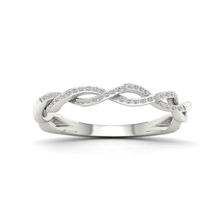 Imperial 1/6Ct TDW Diamond S925 Sterling Silver Fashion Ring (Imperial Glass Ohio Diamond)