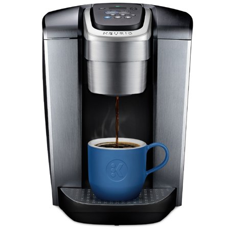 Keurig K-Elite Single-Serve K-Cup Pod Coffee Maker with Iced Coffee Setting, Strength Control, and Hot Water on Demand, Brushed Silver