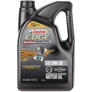 (3 Pack) Castrol EDGE High Mileage 5W-20 Advanced Full Synthetic Motor Oil, 5 QT