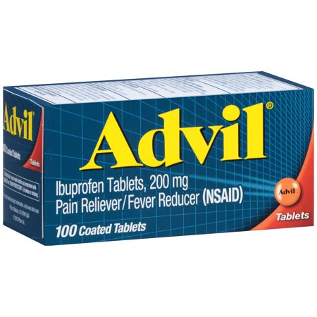Advil Pain Reliever Fever Reducer Ibuprofen Coated Tablets 200 Mg