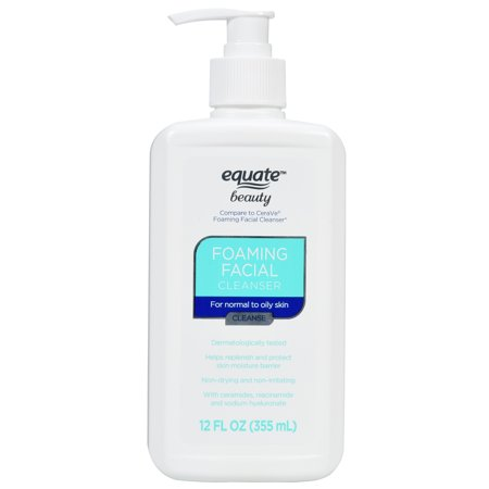 (2 Pack) Equate Beauty Foaming Facial Cleanser, 12 Oz