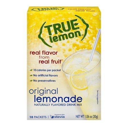 Green Lemon Flavor 6 Packets - (3 Pack) True Lemon Drink Mix, Lemonade, 10 Packets, 1 Box