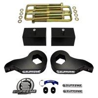 "Supreme Suspensions - Chevy + GMC K1500 + Tahoe + Yukon + Suburban 3"" Front Suspension Lift + 2"" Rear Lift Kit (Black) PRO"