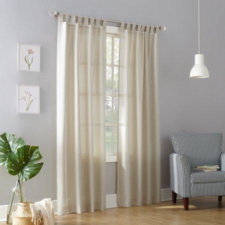 No. 918 Farrell Semi-Sheer Tab Top Curtain (60 Tab Top Panel)