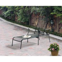 Mainstays Jefferson Wrought Iron Chaise Lounge, Black