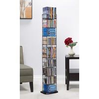 "Atlantic 53"" 8-Shelf Adjustable Heavy Gauge Steel Storage Media Rack (153 CDs, 72 DVDs, 94 BluRays/ Games), Black"