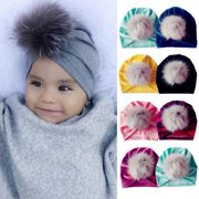 7def32a6 Newborn Toddler Kids Baby Boy Girl Turban Cotton Beanie Hat Winter Warm  Soft Cap