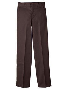 Boys' Uniform Classic Fit Straight Leg Flat Front Pants (Big Boys)