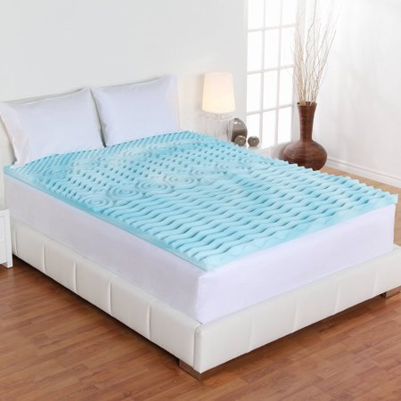 authentic comfort mattress topper Authentic Comfort 3 Inch Orthopedic 5 Zone Foam Mattress Topper  authentic comfort mattress topper