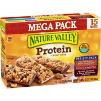 Nature Valley Protein Chewy Bar, Variety Pack, 10g Protein, 15 Ct