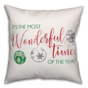 It's the Most Wonderful Time of the Year 18x18 Spun Poly Pillow Cover