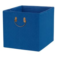 "Better Homes and Gardens Textured Velveteen Cube Storage Bin (12.75"" x 12.75""), Single Unit, Multiple Colors"