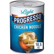 (3 Pack) Progresso Soup, Low Fat Light, Chicken Noodle Soup, 18.5 oz Can