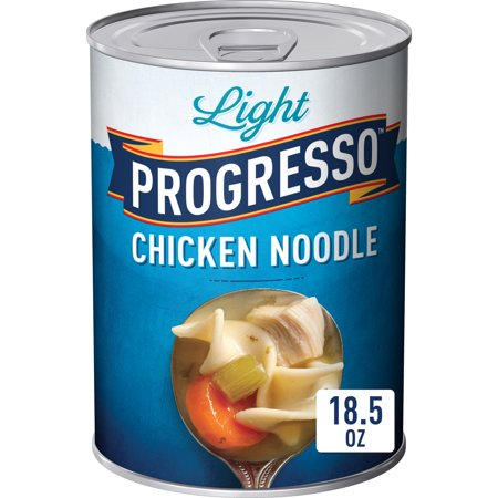 (3 Pack) Progresso Soup, Low Fat Light, Chicken Noodle Soup, 18.5 oz Can ()