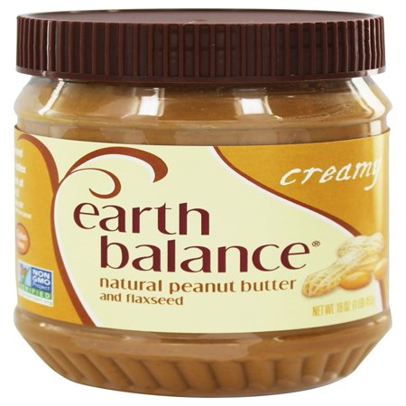 Almond Butter 16 Oz Glass (Earth Balance® Natural Creamy Peanut Butter and Flaxseed 16 oz. Jar )